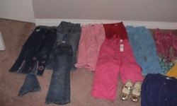 Size 5, assorted Girl's Clothes, mostly pants.Clean, non-smoking home
