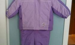 Brand is Athletic Works. It is in great conditions. No hood. No rips and no stains. The first picture represent the true colour of the snowsuit. Laundered and ready to wear. Comes from pet free and non smoking home. Price is $20. If ad is still up, item