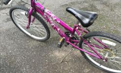 Girls 24' inch bike 18 speed. Well used and price reflects asking $35.