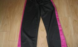Girls ATHLETIC WORKS pants Size 10/12 Color Black with pink $10 Can meet in west end of ottawa (kanata) or pickup in Constance Ba