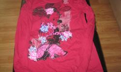 Girls Adoreable DISNEYS Minnie Long-sleeve top Size Large Primary Color - Burgendy Great with leggings!! ONLY $10 Can meet in west end of ottawa (kanata) or pickup in Constance Bay