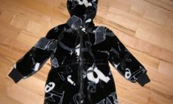 Girls Size 6x Black/White Faux Fur Coat