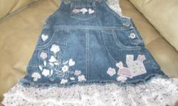 Adoreable Jean Dress Size - 6/9 months 100% cotton ONLY $10 Can meet in west end of ottawa (kanata) or pickup in Constance Bay