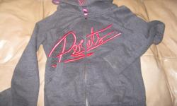Girls JOSHUA PERETS hoodie Size Large Color - Grey / Pink $10 can meet in west end of ottawa (kanata) or pickup in Constance bay