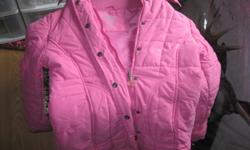 Girls LA SENZA Girl winter jacket with detachable hood. Size Medium Color - Pink in Great condition can meet in west end of ottawa (kanata) or pickup in Constance Bay