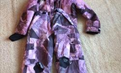 Girls purple London Fog winter jacket and ski pants.
