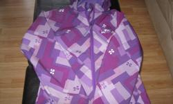 Girls Spring/Fall jacket with hood Brand - XMTN Size 10/12 (large) Primary color - purple 100% polyester GREAT condition Can meet in west end of Ottawa (Kanata) or pickup in Constance Bay