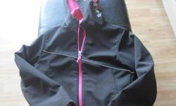 Girls Spring/Fall Jacket with hood Size 10/12 Brand - XMTN Primary Color - Black with pink interlining $10 can meet in west end of ottawa (kanata) or pickup in Constance Bay