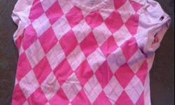 Girls pink harlequin pattern shirt size 6x like new. Smoke free home This ad was posted with the Kijiji Classifieds app.