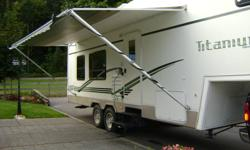 5th Wheel for sale - 2002 Glendale Titanium 29E34RL 5th wheel for sale. Interior package includes day/night shades throughout, oak galley flooring, air conditioner, central vacuum, living area paddle fan, powered roof vent in bedroom. Free standing oak