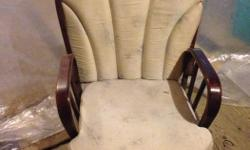 Glider rocking chair for nursery. In great shape, cushions need reupholstering. $100 obo