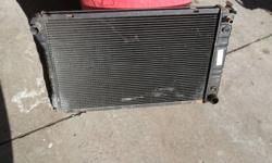3 core GM rad  measures 31 inhes wide from side tank to side tank & 19inhes tall from top to bottom  good shape , has heater hose on pas side top  $40 obo niagara falls 905 358 9849