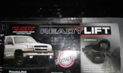 """3"""" Torsion Key Lift Kit with 1"""" Rear Blocks comes with all hardware. Used for 6 months. Will fit 1999-2007(classic) Chevrolet Or GMC 1500's. $600 brand new. Will Sell for  $300.00 Stainless Steel Grill insert for 1999-2002 GMC Sierra 1500, 2500, 3500."""