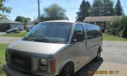 Make GMC Model Savana 1500 Year 2002 Colour Gray kms 238000 Trans Automatic 8 passenger, power door locks, windows and mirrors, heated rear windows, front and rear heat and cold air, trailer hitch, excellent condition, highway miles, spent winters in