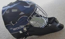 For Sale: Sherwood street hockey goalie mask. New in the plastic carry bag. Adjustable - youth to adult. Cage and throat guard.-CLEAN- never used. $20.