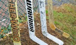 "Four sticks as seen all for $50 Paddle lengths are : 25"" 24"" 27"" 25"" BANK/GLEN AVE. area"
