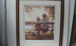 Golden Moments  With sketch,  Trisha Romance sold out Limited Edition Print $390.00 Framed comes with Certificate of authenticity  705 726 1579