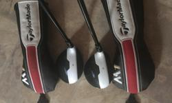M 1 .. 3&5 woods Reg shaft .. Like new .. Selling at golf town for $349. Each Plus tax .. OBO