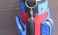 Kids Golf Bag and 4 RH. clubs, few balls & `T`s Clean-all zippers work...$10.
