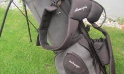Black stand up golf bag, good condition.