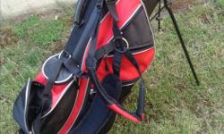 Dbl strap bag with stand used once so good shape.