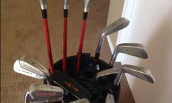 Ful Set of Irons & Putter #1, 3, & 5 Graphite Drivers Golf Bag Accessories