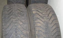4 Good year Nordic studded winter tires off Toyota Sienna Size 215/65 R16   These tires are in decent shape.  Good for season or so.  Studs worn down.   $150