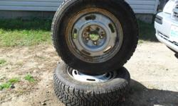 pair of 205/ 65 15s good  year nordic snow tires just like new  tons of tread  just look at the pic see for you self  thare on honda 5 bolt rims asking $225 or best offer or trade for set of 4 alloy rims & tires factory or aftermarket  for 2000 pontiac