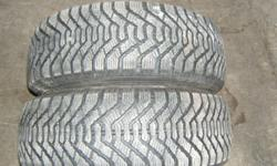 4 GOODYEAR NORDIC M+S WINTER TIRES . 2 ARE LIKE NEW P205/65R15 ASKING $150. THE OTHER 2 HAVE APPROX 30% TREAD. WILL SELL ALL 4 RIMS AND 2 WORN TIRES  FOR$80