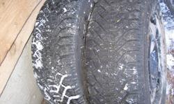 """New winter tires 15"""" 4 bolt off a Honda"""