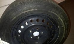 """Hello, 205 60 R16 No longer will be driving my car in winter so I'm selling my set of tires. They have about 1/2 tread life and still good for atleast another season. **Tires come with 114.3X5 16"""" Steel wheels (Black)** Tires were over $1000 new"""