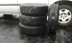 Iam selling 4 Goodyear Nordic winter tires on rims that came of a 2002 Dodge Caravan. The tire size is P215/70R15, Asking $350.00.Please contact me vira email.Thank You