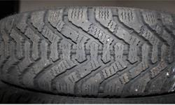 Four winter tires for sale, because we sold the car it used to go on, used for only two seasons, $45/- each No holes, no patches. Used for ~1500 km