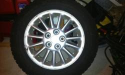 215/60/16 on Pontiac 5 stud rims. Used for half of a winter. 95% tread. $500 without rims This ad was posted with the Kijiji Classifieds app.