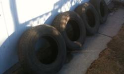 4 used tires. 2 decent ones, 2 fairly worn. $60 for all of them. This ad was posted with the Kijiji Classifieds app.