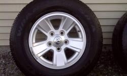 Off my 2009 dodge dakota. P245/70R/16. These tires have the factory installed rims and also come with the sensors in the stem. Have a look at the pictures to get a great view. I just recentley lifted my truck and put on bigger tires, that's why I'm