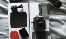 GoPro hero+, used it once, Comes with original packaging and all box components. also includes wrist strap with 360* movement, head strap, and longer strap
