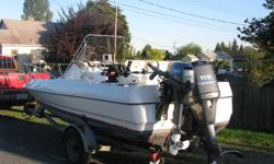 1991 19 ft. Trophy center console walk around. 115hp 4 stroke yamaha. Trailer and boat cover included.
