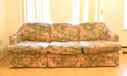 Clean sofa in good condition, but with a few tears. 190cm�70cm - - Pick up only.