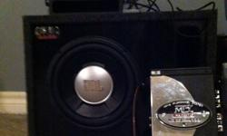 """Flip out touch screen Alpine deck, great shape. 10"""" sub woofer in a box, an great amp, all in great shape, for a great price, has all wiring an casings, only needs installation, will accept offers!! Deck was originally 2500$ This ad was posted with the"""