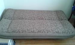 Hi, I am selling a great futon that serves as a bed. It comes from a smoke free home. The futon is in great condition with no scratches or stains. Lots of storage space underneath. It has been in a guestroom and has been covered this whole time. Please