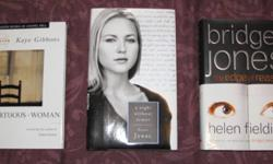 A great collection of novels up for sale! Would make a great Christmas gift! Purchase separately or as a lot.   Photo#1: A Virtuous Woman Kaye Gibbons (hardcover) $4   A Night Without Armor Poems by Jewel (hardcover) $4   Bridget Jones - The Edge of