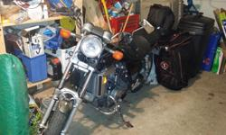 1983 Honda magna 750, I've been riding this bike for 3 years and have enjoyed every minute. I'm only selling it because I'm upgrading to a bigger bike. The bike is easy to ride, has a Corbin seat, wind screen and a 4 in to 1 header. I have replaced the