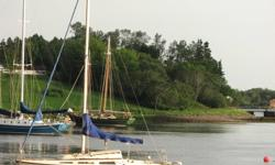 """23.5' Fiberglass sailboat for sale.  G.P.S., compass, VHF, radio.  All sails and covers included.  3' 6"""" wing keel.  6 hp. Suzuki outboard motor and yard trailer included.  $5,000.00  OBO. Call 857-1215"""