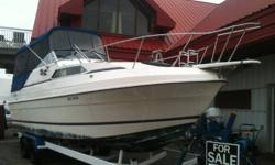 27ft Bayliner Victoria with many upgrades including: Full camper top, Navman GPS, New swim platform and interior! Powered by a Volvo penta 260hp and comes with a tandem axle trailer. Open to all offers and will consider any trades, boats stored indoors