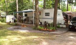 We have a very clean 2002 Springdale 26' trailer for sale in Glen Allan Park in Marmora. The park is located on Crowe Lake and is great for boating and fishing. Beautiful sunsets over the lake.   The trailer sleeps 8, has a front bedroom, and rear bunks,