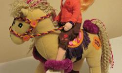 """Groovy Girls 12"""" Plush Calypso Horse with 14"""" Girl Rider Doll - In excellent condition - Ideal as a Christmas gift"""