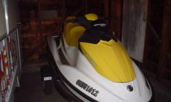GTI 3 SEATER SEADOO FORSALE 130 HP 4 STROKE ENGINE ORIGINAL OWNER HAS ONLY 55 HOURS, HAS BEEN WINTERIZED AND TAKEN VERY GOOD CARE OF. NEED GONE ASAP. TRAILER INCLUDED EMAIL ME WITH QUESTIONS.