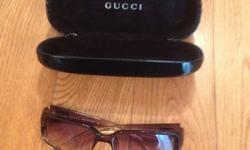 100% Authentic - Gucci Sunglasses with Case , like new condition - $60 (person never showed up)