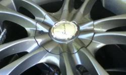 Nice rims for a pt cruiser, cavalier, jetta and corolla It has two 5 bolt patterns on it so there's 10 holes. They were bought in the spring for 500$ and used for 3 months. They have winter tires on them 205 55 r16 but are low on tread. This ad was posted